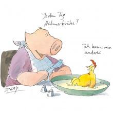 Cartoon_HuhnSchwein_Jeden_Tag_Hühnerbrühe