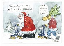 Peter Gaymanns Demensch kalender 2013  Dezember_Irgendwas_war_doch_am_24_Dezember