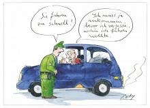 Peter Gaymanns Demensch kalender 2013  Mai_Sie_fahren_zu_schnell
