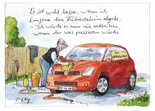 Peter Gaymanns Demensch kalender 2013  Oktober_Es_ist_wohl_besser_wenn_ich_langsam_den_Führerschein_abgebe