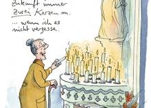 Peter Gaymanns Demensch kalender 2014  April_Wenn_du_es_schaffst_dass_die_Heimleitung_meinem_netten_Pfleger_das_Gehalt_verdoppelt