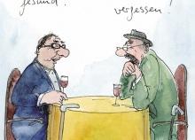 Peter Gaymanns Demensch kalender 2014  Januar_Hauptsache_gesund