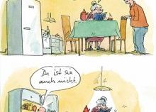 Peter Gaymanns Demensch kalender 2014  Juli_Ich_suche_meine_Brille