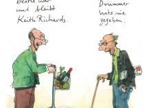 Peter Gaymanns Demensch kalender 2014  Oktober_Mein_Lieblingsbeatle_war_und_bleibt_Keith_Richards