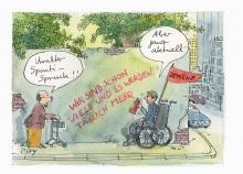 Peter Gaymanns Demensch kalender 2015  August_Uralter_Sponti-Spruch