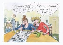 Peter Gaymanns Demensch kalender 2015  September_Gehirn-Jogging_soll_ja_gut_sein