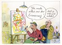 Peter Gaymanns Demensch kalender 2016  April_Ich_male_alles_aus_der_Erinnerung