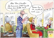 Peter Gaymann demensch Kalender  2017  April_Aber-Frau_Hensler