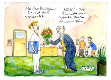 Peter Gaymann demensch Kalender  2018 April_Aber_Herr_Doktor_Wegener