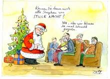 Peter Gaymann demensch Kalender  2018 Dezember_Kennen_sie_denn_noch_alle_Strophen